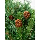 4 ft. x 30 in. Artificial Christmas Tree Red Pine Full With Pine Cones Decor