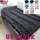 Winter Wool Blanket Chunky Knit Super Giant Bulky Yarn Handmade Arm Knit Gift US image