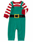NWT Gymboree Holiday Shop Elf Christmas Holiday Romper 1PC Baby Boy