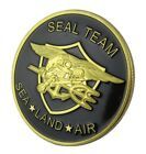 U.S. United States Navy   Seal Team   Sea Land Air   Gold Plated Challenge Coin