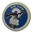 U.S. United States Navy   Seal Team Two 2   Military Gold Plated Challenge Coin