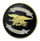 U.S. United States Navy   Seal Team Three 3   Gold Plated Challenge Coin