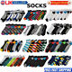 6 Pairs Womens Mens Adults Sports Trainer Liner Ankle Socks Boots 6-11 For Shoes