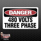 Danger 480 Volts Sticker - Osha Safety Vinyl Decal Sign Warning Caution Fe124