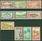 EDW1949SELL : COOK ISLANDS 1949 Sc #131-40 Very Fine, Mint never Hinged. Cat $47