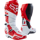 Fox Instinct Boots White Red Pro-Level Motocross Boots NEW RRP £410