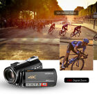 4K UHD 24MP Digital Video Camera Recorder DV 12X Zoom + 0.39X Lens + Mic P9C2