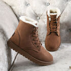 Women's Fur Thicken Ankle Snow Boots Suede Winter Warm Outdoor Ski Casual Shoes