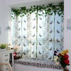 Chic Butterfly Pleated Roman Shades Window Sheer Fabric Curtain Home Decor