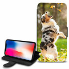 Cute Dogs Design PU Leather Wallet Case Cover For Various Mobiles - 31