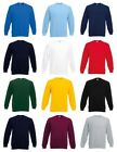 Fruit of the Loom Mens Classic 80/20 Set-in Sweatshirt Jersey Jumper Casual Top