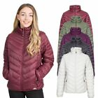 Trespass Simara Womens Padded Quilted Jacket in Black Olive Purple & White