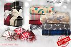 "Soft Fleece Throw Blanket 50"" X 60"" Great Gift! Holiday Winter Style Home Decor"