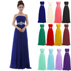 Women Strapless Long Ball Gown Formal Dress Wedding Party Bridesmaid Dresses