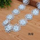 DIY 2 Yards Double layer Flowers pearl Lace Beading clothing accesories Sewing