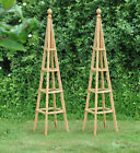 Tall Wooden Garden Obelisks for Roses and Climbing Plants