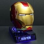 1:1 Iron Man MK7 Helmet Led Light Wearable Life-size Cosplay Touch sensitive Toy