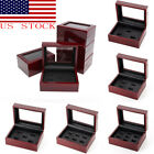 Kyпить US New Wooden Display Box for World Series Cup Championship Ring 1/3/4/5/holes на еВаy.соm