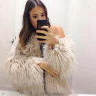DE Damen Warm Kunstpelz Faux Fur Jacken Parka Mäntel Jacke Outwear Wintermantel