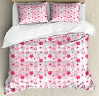 Baby Duvet Cover Set with Pillow Shams Stuffed Rabbit Toy Flower Print for sale  Waltham