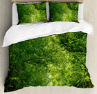 Landscape Duvet Cover Set with Pillow Shams Fresh Canopy Forest Print image