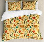 Egyptian Duvet Cover Set with Pillow Shams Ancient Civilization Print image