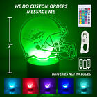 Miami Dolphins Personalized Led Lamp, Light Up 3D Night Light. Made in USA. on eBay