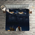 Galaxy Quilted Coverlet & Pillow Shams Set, Galaxy Solar Adventure Print image