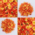 100x Bouquet Artificial Daisy Heads Silk Flowers Wedding Party Home Decor Uk