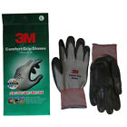 [100 pairs] 3M Comfort Grip Gloves Nitrile Foam Coated Sports Work Gloves Gray