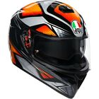 AGV K3 SV Liquefy Mens Black/Orange Street Riding DOT Protect Motorcycle Helmets