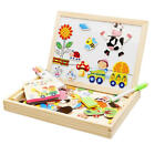 Educational Magnetic 3D Puzzle Double Faced Writing Wooden Board Easel T FBY