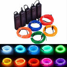 Kyпить 5M/3M Battery Operated Luminescent Neon LED Lights Glow EL Wire Party Strip Rope на еВаy.соm