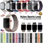 Woven Nylon Band for Apple Watch Sport Loop iWatch Series 4/3/2/1 38/42/40/44mm image