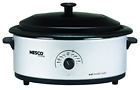 Nesco 4816-47 6Qt Sl Electric Roaster, 6 Qt, Silver/Black