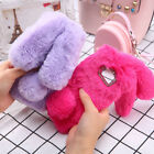 Warm Bling Rabbit Fur Fluffy Phone Case For iPhone 6 6s XS MAX 8 Cover Xr Shell