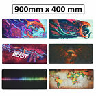 XXL Large Extended Heavy Thick Gaming Desk Mat 900x400mm Mouse Pad for PC Laptop