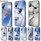 Snow TPU For 7 Plus 6 8 X XS Max iPhone 5S Cover Tempered Glass Cellphone N5026