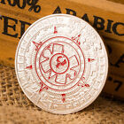 Silver Plated Mayan Aztec Prophecy Calendar Commemorative Coin Collection GiftSR