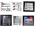 Select 1 Sheet BMW M Performance Car Side Skirt Emblem Decal Stickers 12*12cm