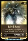 Warframe Maxed Blind Rage Mod ( PS4 )