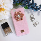 Fashion Flower Diamond  Phone Case Lace Cover For iPhone X 6S 7/8 Plus