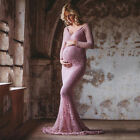 Maternity Pregnant Women Long Maxi Party Gown Dress Lace Dress Photography Props