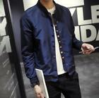 Mens Long Sleeves Sports Collar Buttons Thin Outdoor Coats Casual Jackets Sbox1