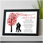 Personalised I Love You Couples Poem Anniversary Gifts for Her Him Wife Husband