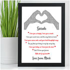 I Love You Personalised Anniversary Gifts for Couple Husband Wife Her Girlfriend