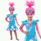 Girls Troll Poppy Cartoon Fairy Costume Princess Dress & Wig Party Cosplay Set image