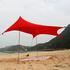 3-4 Person Beach Tent Tarp Portable Canopy Sunshade with Sandbag Anchors
