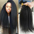 "Brazilian kinky straight human hair extensions 3Bundles/300g hairs weaves 8""-30"""