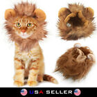 Внешний вид - Pet Lion Mane Wig Dog Cat Hat Ears Costume Halloween Dress Up Puppy Kitten Brown
